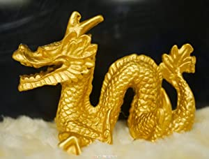 Chinese Zodiac - Dragon Sculpture in Gold Finish