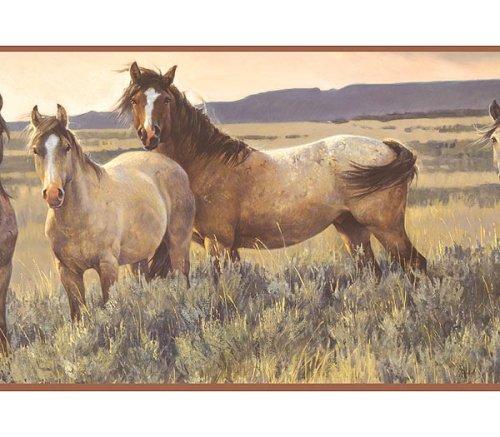 Wild Horse Wallpaper Border
