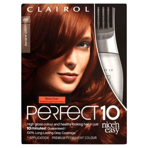 clairol nice 39 n 39 easy perfect 10 light auburn 6r. Black Bedroom Furniture Sets. Home Design Ideas