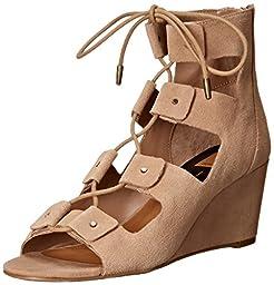 Dolce Vita Women\'s Liana Wedge Sandal, Taupe, 6 M US