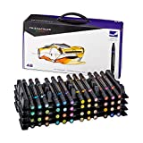 Prismacolor Premier Double-Ended Art Markers, Fine and Chisel Tip, 48-Count