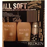 Redken All Soft Shampoo 10.1 Oz Conditioner 8.5 Oz Free Diamond Oil Shatterproff Shine & Control Addict 28 Gift...