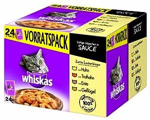 Whiskas Multipack 24x100g Zarte Leckerbissen in Sauce, 1er Pack (1 x 2.4 kg)