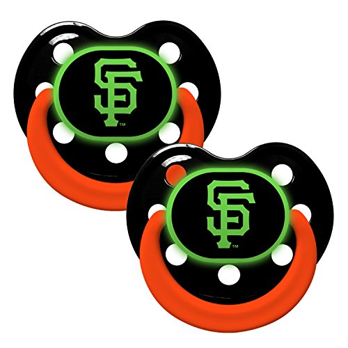 San Francisco Giants Glow In Dark 2-Pack Baby Pacifier Set - Mlb Infant Pacifiers front-939123