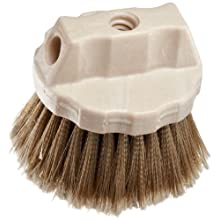 "Weiler 25271 Polystyrene Round Window Brush, 4-1/2"" Overall Length, Natural"