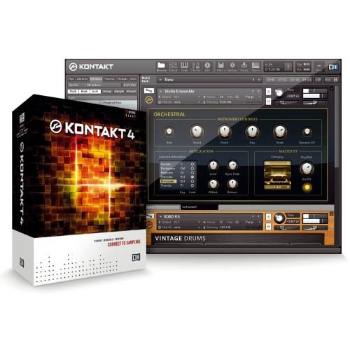 Sale!! Native Instruments KONTAKT 4 Software Sampler with 43GB Sound Library