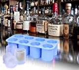 Ivation Silicone ICE Shot-Glass Mold, Tray of 8