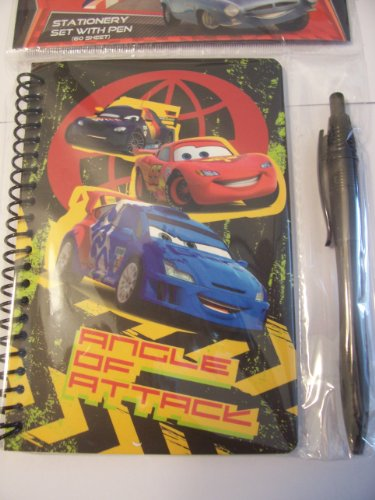 Disney Cars 2 Stationery Set with Pen ~ Angle of Attack