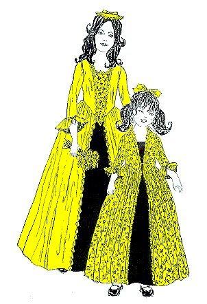 1776 Girl's Colonial Dress Pattern