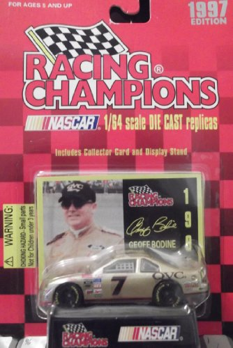 1997 Racing Champions Nascar Geoff Bodine #7 1:64 Die Cast