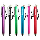 iDream365 Pack of 6 Capacitive Touch Screen Tablet Stylus/Styli Pen for Kindle Fire, Kindle Fire HD 7 8.9, Google Nexus 7, iPad Mini, iPad 2, iPad 3 (the new iPad), iPhone 5 4S, Galaxy S 3,BlackBerry Playbook AMM0101US, Barnes and Noble Nook Color, Droid Bionic