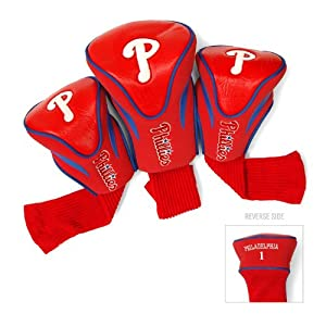 MLB Philadelphia Phillies Contour Head Cover (Pack of 3) by Team Golf