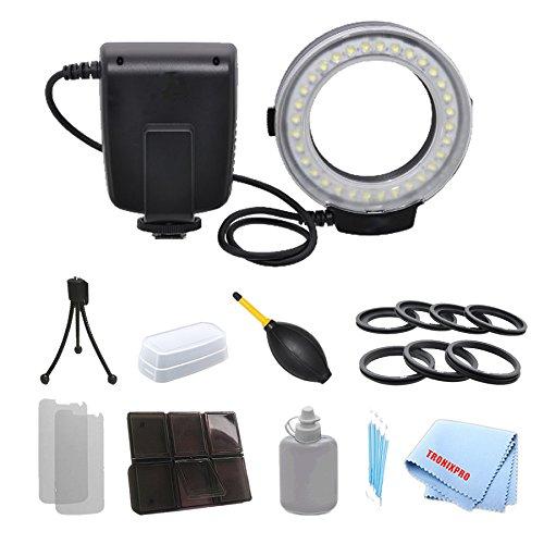 Professional Macro Ring Flash & Led Light For T2I, T3, T3I, T4I, T5, T5I, Sl1, 10D, 20D, 30D + A Dust Blower With A Complete Starter Kit