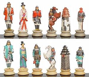 Japanese Samurai Warrior Themed Chess Set Toys Games