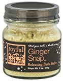 Joyful Bath Ginger Snap Releasing Bath Salts, Ginger, 9 Ounce by Joyful Bath Co