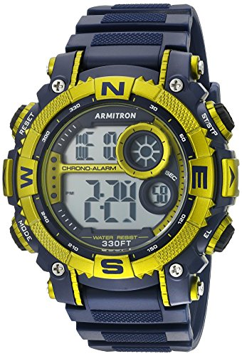 armitron-sport-mens-40-8284nvlg-light-green-accented-digital-chronograph-watch-with-matte-blue-resin