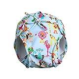 Vine Bebé Pañales bañadores Ajustable Bañador Pañal de Tela Reutilizable Lavable Diaper Para Blue 4