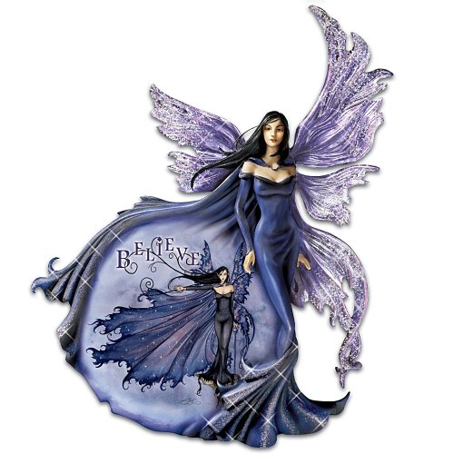 Amy Brown Believe Collectible Purple Fairy Wall Decor by The Bradford Exchange