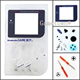Gametown® Full Housing Shell Cover Case Pack with Screwdriver for Nintendo Gameboy Classic/Original GB DMG-01 Repair Part-Clear White