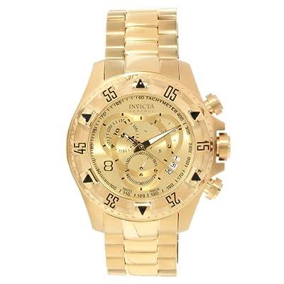Invicta Invicta Men's 14473 Excursion Quartz 3 Hand Gold Dial Watch