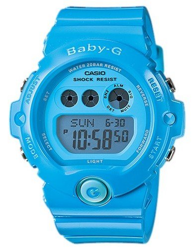 CASIO [CASIO] Watch Casio CASIO baby-g baby G overseas model imports Energetic Colors energized color 20 ATM waterproof diving divers watch Watch Blue