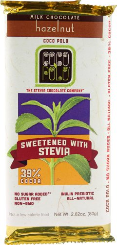 Cocopolo Milk Chocolate with Hazelnuts (10/2.82oz) (Stevia Hazelnut Chocolate compare prices)