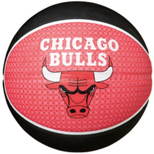Spalding Chicago Bulls Basketball, Size 7 (Red/Black)