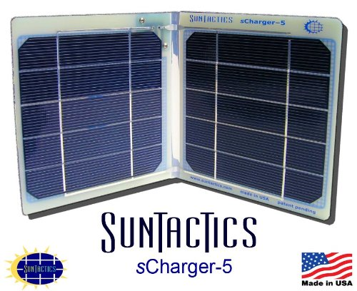 The sCharger-5 5Watt Direct Power Solar Charger - Best In Its Calss