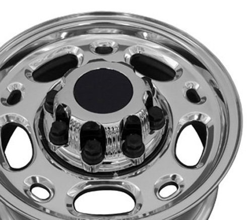 16x6.5 Wheel Fits GM Trucks - Chevy Suburban Style Polished Silver Rim (Chevy 2500hd Rims And Tires compare prices)
