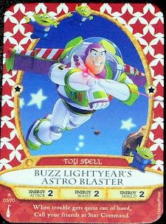 Sorcerers Mask of the Magic Kingdom Game, Walt Disney World - Card #03 - Buzz Lightyear's Astro Blaster - 1