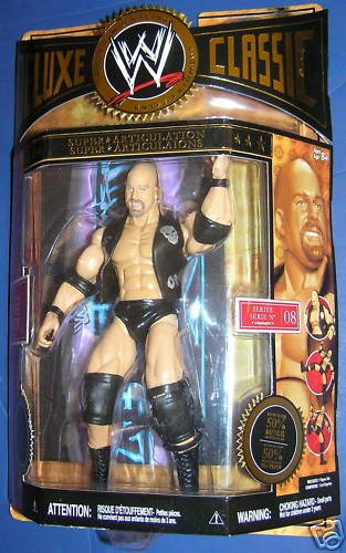 Buy Low Price Jakks Pacific WWE Wrestling Exclusive Deluxe Classic Superstars Series 8 Action Figure Stone Cold Steve Austin (B0034UMXGM)