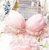 フェミニン ブラ & ショーツ セット レディース 薔薇 シフォン レース