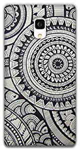 The Racoon Grip Circles hard plastic printed back case / cover for Xiaomi Redmi