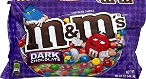 M&M's Dark Chocolate Candy, 19.2-Ounce Packages (Pack of 4)