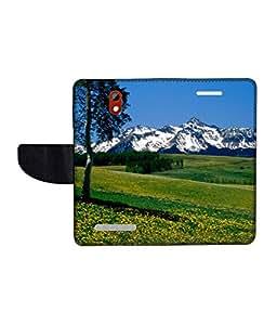 KolorEdge Printed Flip Cover For HTC Desire 500 -Multicolor (45KeMLogo10643HTC500)