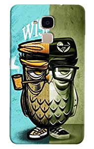 Omnam Owl In Two Different Way Printed Designer Back Cover Case For Huawei Honor 5C