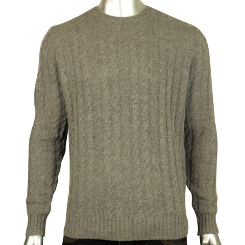 Mens Ben Sherman Cable Knit Wool Crew Neck Jumper Mod Retro Smart Knitwear 3XL