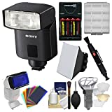 Sony-Alpha-HVL-F32M-Compact-Flash-with-Soft-Box-Diffuser-Bouncer-Color-Gels-Batteries-Charger-Kit