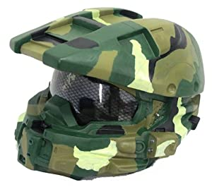 Cool Halloween Cosplay Army Helmet Full Head Mask Master Cosplay with Honeycomb Glass
