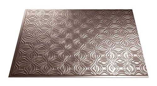 fasade easy installation lotus brushed nickel backsplash