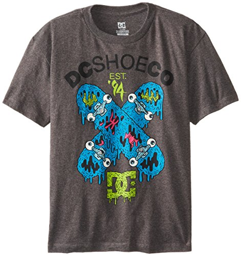 Dc Apparel Big Boys' Zombie Decks Tee, Dark Shadow Heather, X-Large/18-20 front-391524