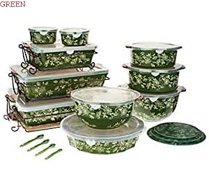 Amazon Com Temp Tations Floral Lace 24 Piece Oven To