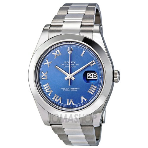 Rolex Datejust II Blue Dial Stainless Steel Mens Watch 116300