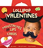 Peaceable Kingdom / Mustaches and Lips Lollipop Toppers Super Valentine Card Pack