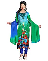 ZHot Fashion Women's Printed Un-stitched Dress Material In Cotton Fabric (ZH1023) Multi