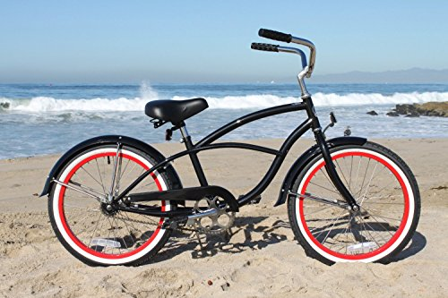 Firmstrong Urban Boy Single Speed Beach Cruiser Bicycle 20Inch Black W Re
