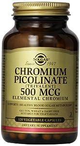 Solgar, Chromium Picolinate, 500 mcg, 120 Veggie Caps