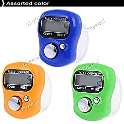 Buyerzone 3 Pcs Digital Machine Finger Watch Digit Tally Counter