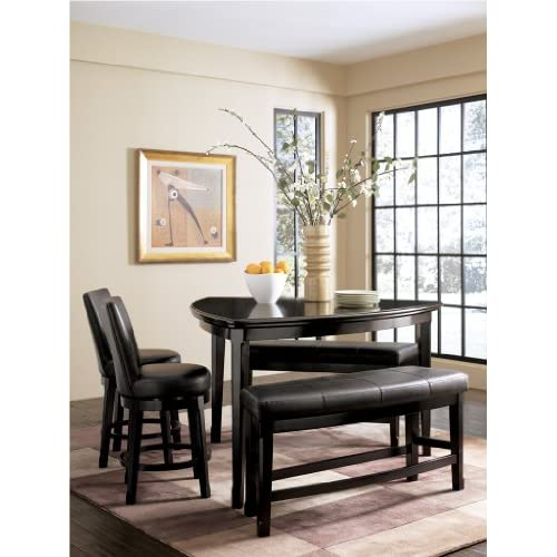 Emory triangular counter height dining set by for Triangle shaped dining room table