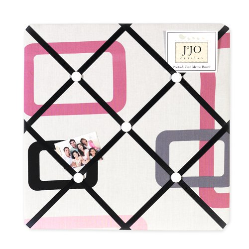 Pink and Black Geo Fabric Memo Board - 1